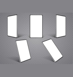 smartphone layouts from different angles mobile vector image