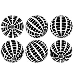 Sphere with grid of squares textured 3d sphere vector