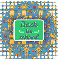 square back to school nameplate background vector image