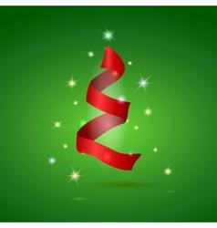 Stylized ribbon Christmas tree vector