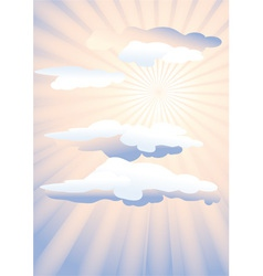 Sunshine and clouds vector image