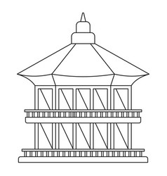 Taiwan temple icon outline style vector