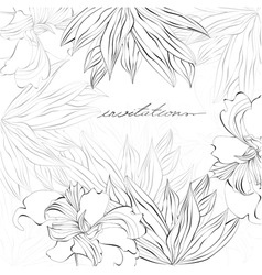 template for card or invitation vector image