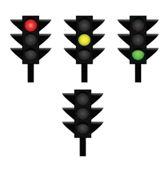 Traffic lights 2 vector image