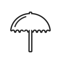 Umbrella silhouette isolated icon vector