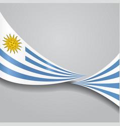 Uruguayan wavy flag vector