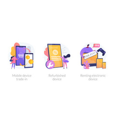 Used device turnover concept metaphors vector