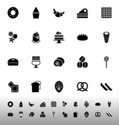 Variety bakery icons on white background vector