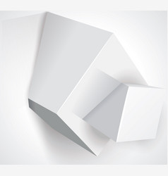 white cubes with text information vector image