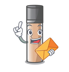 With envelope makeaup foundation in a cartoon bag vector