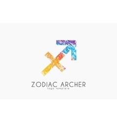 Zodiac archer Zodiac logo Color zodiac logo vector