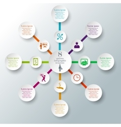 8 options infographic concept vector image