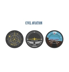 Control indicators of aircraft and helicopters vector image