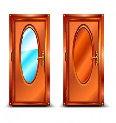 door mirror vector image