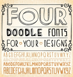 Handwriting fonts vector