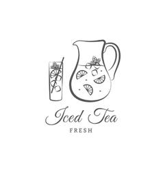 Iced tea vector image