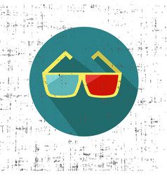 3d glasses on a white background with screen vector image