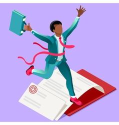 Ambitious business change 57 job ambitions concept vector