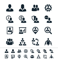 Human resource management icons vector image vector image