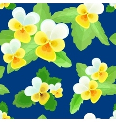 Pansies on a Dark Blue Background vector image vector image