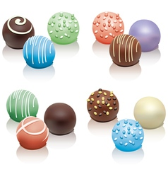 set of colorful candies vector image vector image