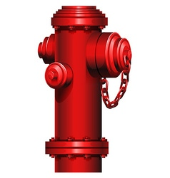 A red hydrant vector