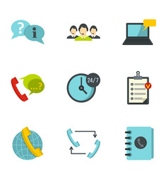 customer service icons set flat style vector image