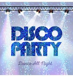 Disco background Disco party vector image
