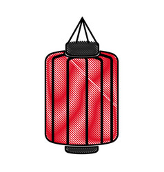 drawing japanese lantern decoration festive vector image vector image