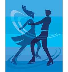 Ice skating skaters vector image vector image