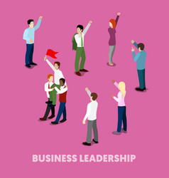 isometric business people leadership concept vector image vector image