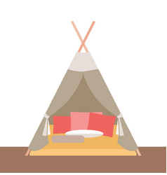 tent-hut for childrens games vector image