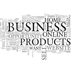 Best home based business opportunity text word vector