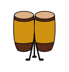 bongo musical instrument icon vector image