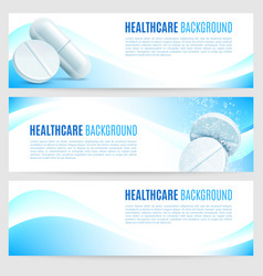 healthcare and medicine banners vector image