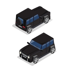 Isometric Transportation Offroad Car Isometric Car vector image vector image