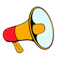 megaphone icon cartoon vector image vector image