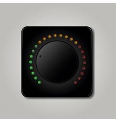 Square volume knob vector image