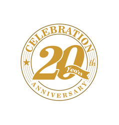 20 th golden anniversary vector