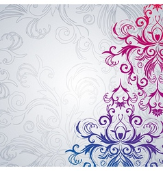 Abstract floral background with east flowers vector image