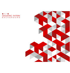Abstract red geometric background with polygonal vector
