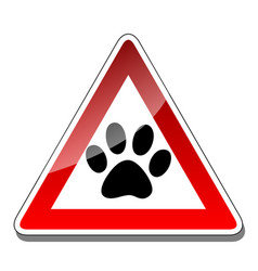 animal warning sign vector image
