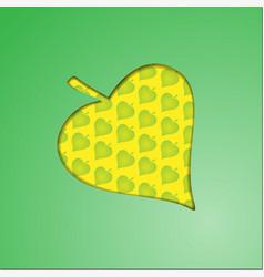 Autumnal maple leaf background vector