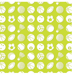 background pattern with different kinds of balls vector image