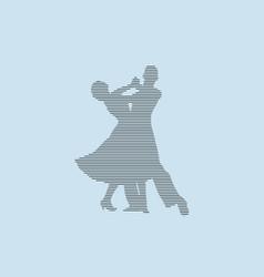 Ballroom dancing partner dancers silhouette vector