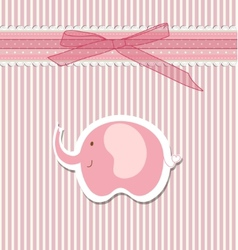 Beautiful baby greeting card vector image