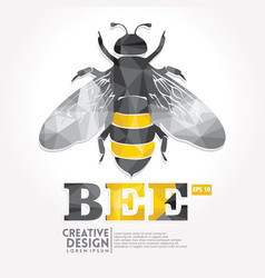 bee geometric paper craft style vector image