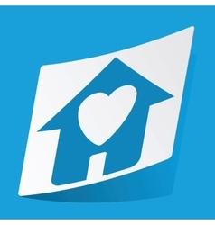 Beloved house sticker vector
