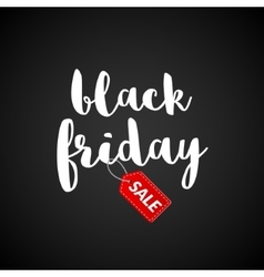 Black Friday Calligraphic lettering retro poster vector