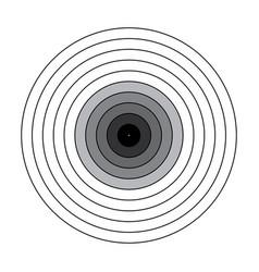 blank gun target paper shooting target blank targe vector image